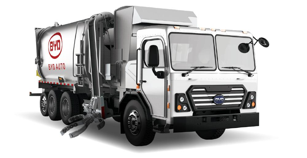 Electric garbage trucks from Byd