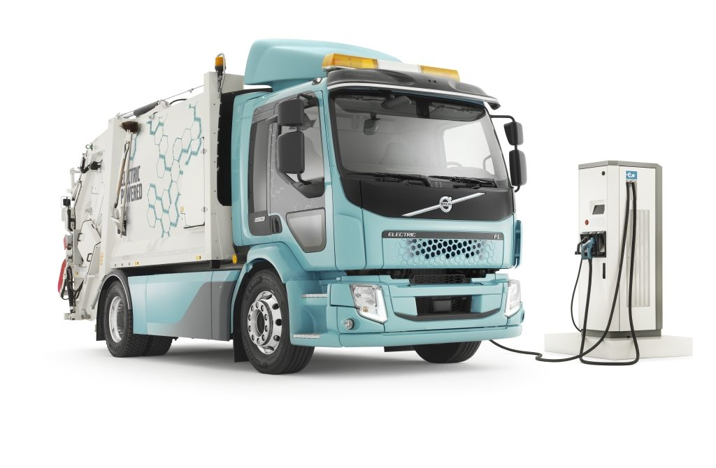 Electric garbage trucks, Volvo.