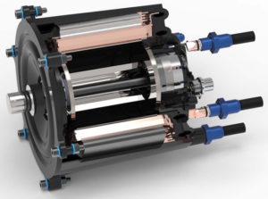 cooled electric motor